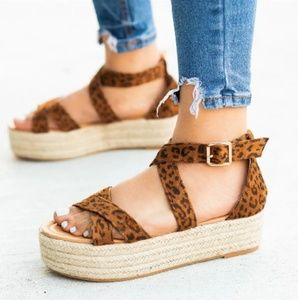 Shoes - LEOPARD ESPADRILLES
